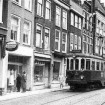 blauwe tram in breestraat